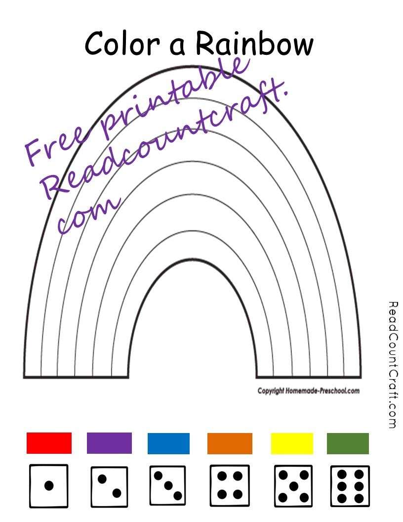 Color A Rainbow Free Printable Free Kindergarten Printables Free Preschool Printables Rainbow Activities [ 1056 x 816 Pixel ]