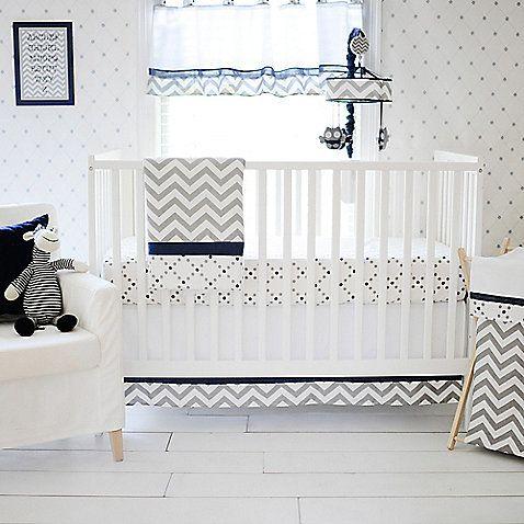 Navy Crib Bedding, White And Navy Cot Bedding