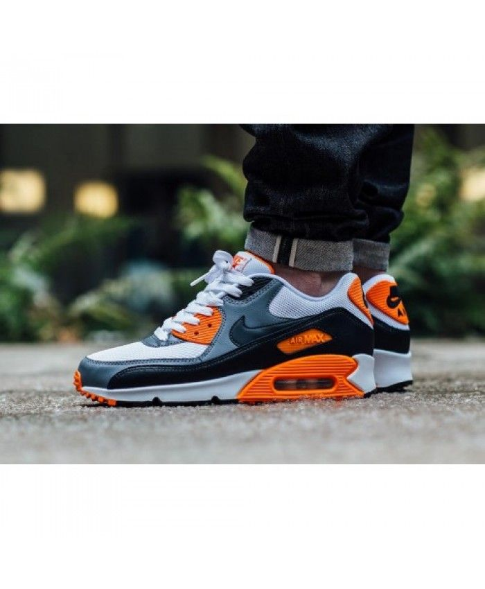 Store offers the official cheap Nike Air Max 90 Ultra Essential Grey White  Orange Womens & Mens Trainers. Buy now and get free socks.
