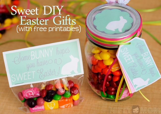 Surprise a child or a loved one with a sweet diy easter gift 2 sweet diy easter gift ideas with printable tags negle Gallery