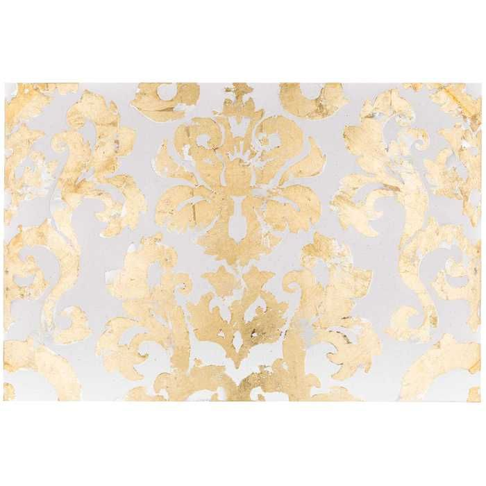 Cream, Silver & Gold Damask Canvas Art   Want. Need. Love ...
