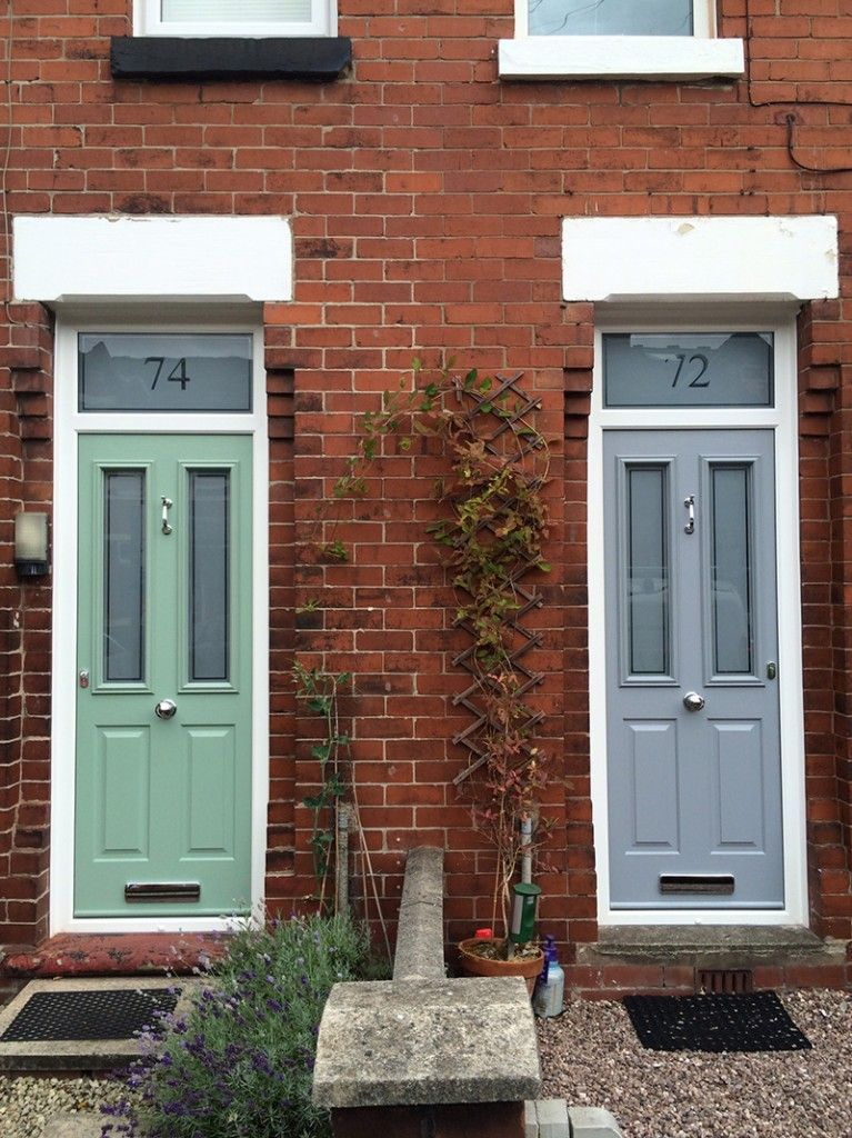 Love the french grey solidor and the frosted glass with for Grey french doors uk