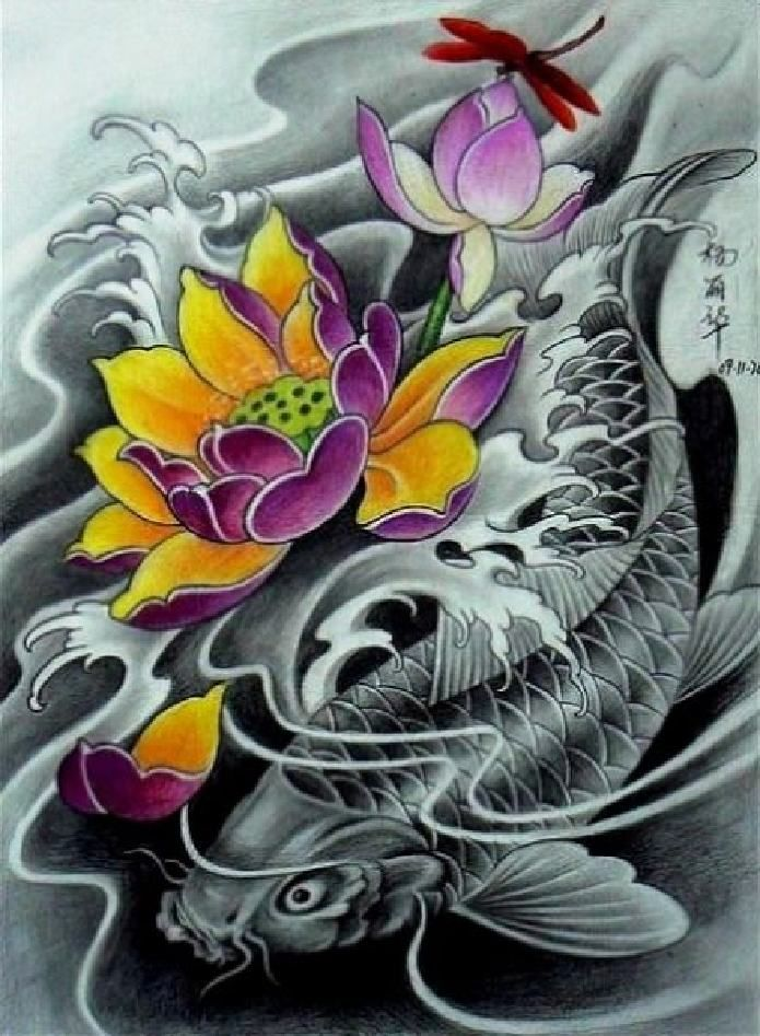 dise os japoneses dragones geishas carpas y mas koi