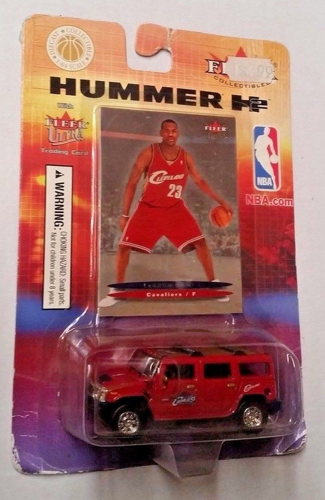 7408f8403b62 FLEER ULTRA COLLECTIBLES -2004 LEBRON JAMES ROOKIE CARD WITH HUMMER H2   Fleer