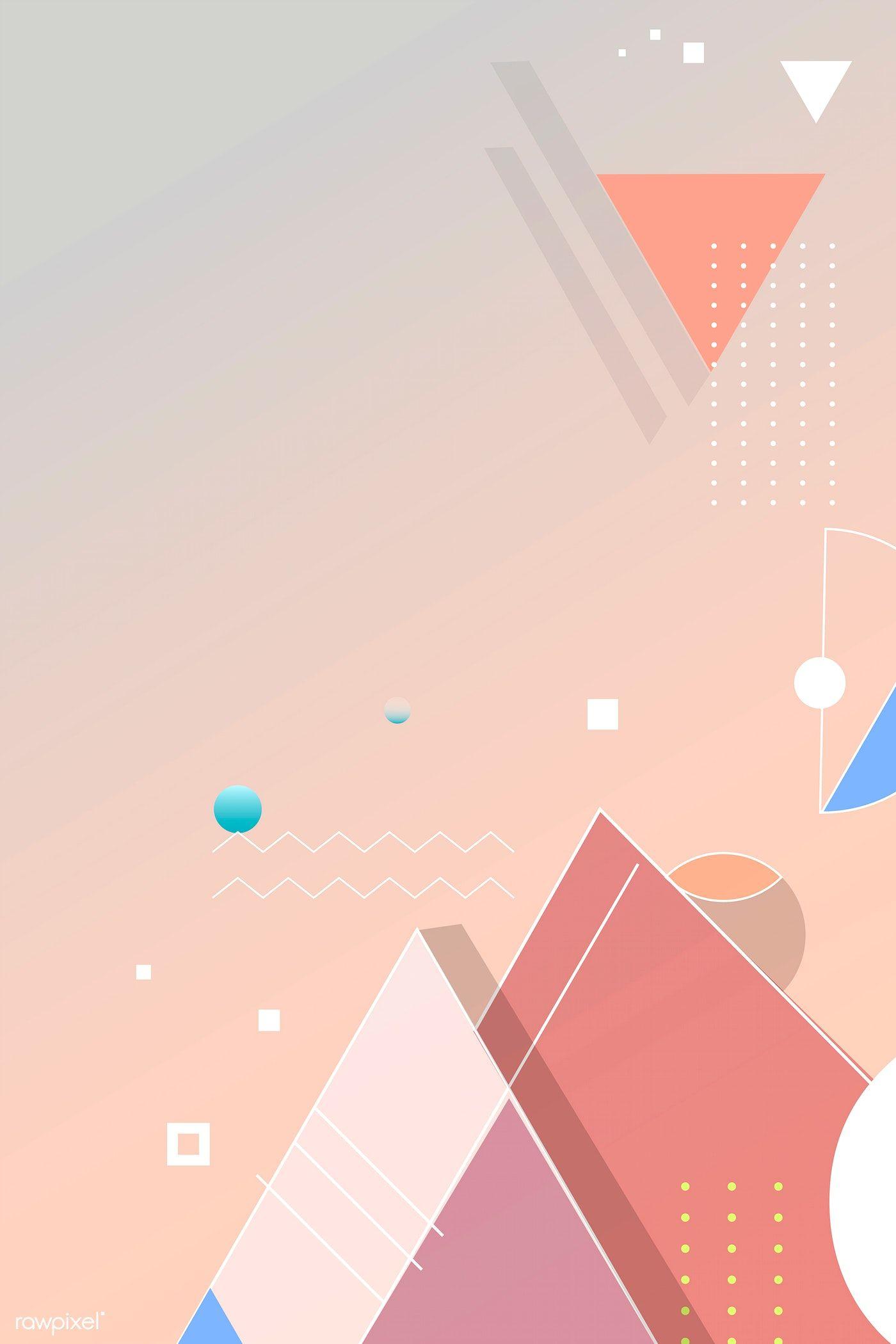 Orange Geometric Abstract Background Vector