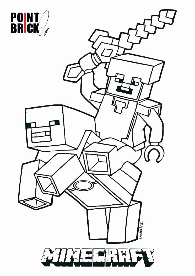 Minecraft Steve Coloring Page Best Of Minecraft Coloring Pages