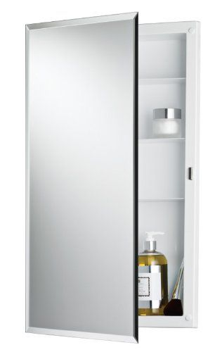 Jensen 781053 Builder Series Frameless Medicine Cabinet W Beveled Edge Mirror