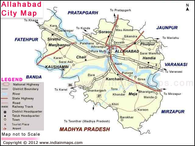 Allahabad City Map City Map in India Pinterest City maps and City