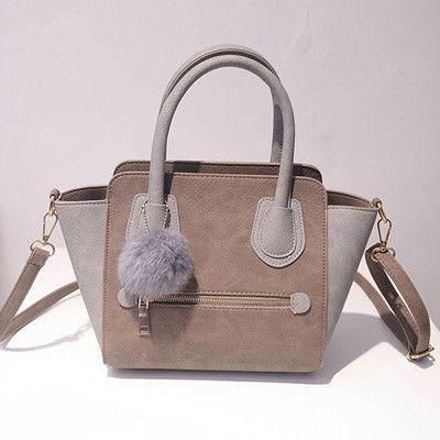 6ea0b50889af 2016 Spring Smiley PU Leather Tote Bag Women Trapeze Fashion Designer  Handbags High Quality Ladies Bags Vintage Crossbody Bags