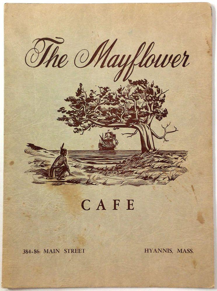 1950s Vintage Menu The Mayflower Cafe Restaurant Hyannis
