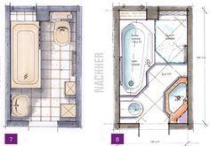 Kleine Bäder, Minibäder, Kleine Badezimmer unter 4m² | Badkamer ...