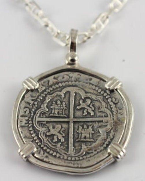 ATOCHA GALLEON SPANISH SHIPWRECK SILVER COIN KEY WEST FLORIDA TREASURE  COIN. Coin JewelrySilver JewelleryPirate JewelryJewelry NecklacesAntique ...