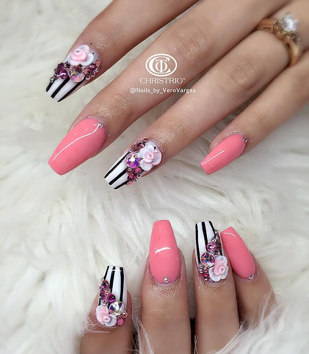 3d Nail Designs, Swarovski Nails