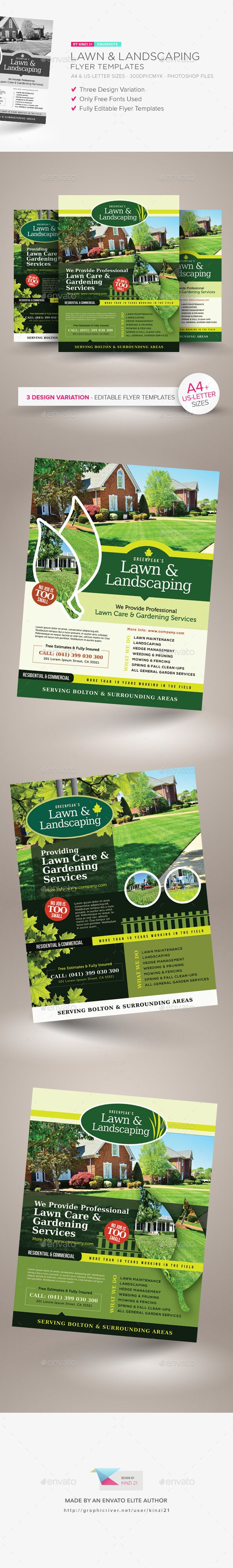 Lawn Landscaping Flyer Templates Psd Flyer Templates Pinterest