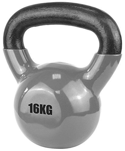 Ufe Vinyl Coated Kettlebell 16kg Silver You Can Get Additional Details At The Image Link Kettlebell Gym Workouts Fitness Training
