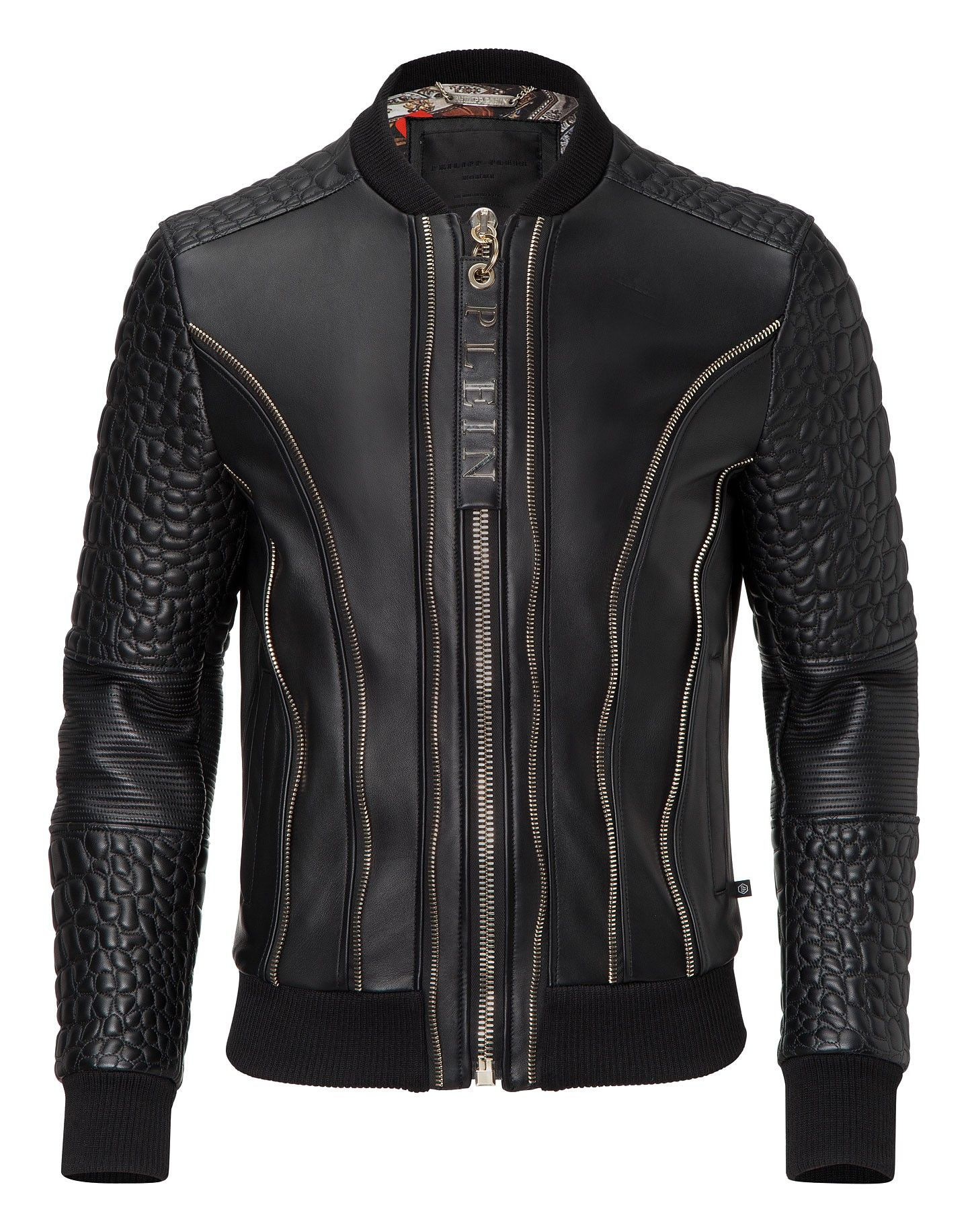 b9e2a2f5083 PHILIPP PLEIN LEATHER BOMBER