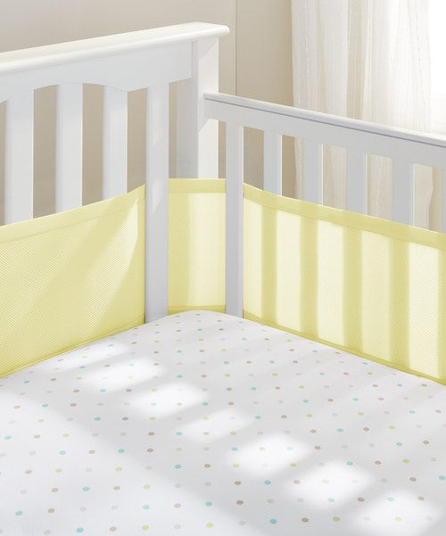Look At This Breathablebaby Yellow Breathable Mesh Crib Bumper Set On Zulily Today Crib Liners Mesh Crib Bumper Cribs