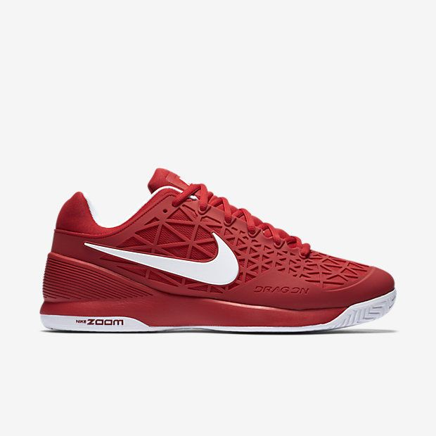 Nike Court Zoom Cage 2 Mens Tennis Shoes 9.5 University Red White 705247  610 #Nike