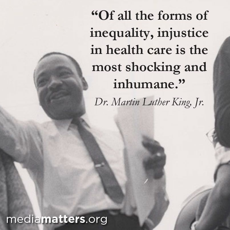 Image result for martin luther king on healthcare