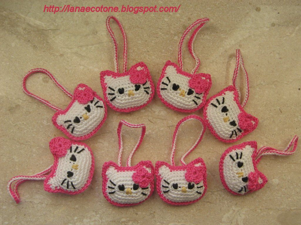Crochet Amigurumi Keychain Free Pattern : Lana e cotone maglia e uncinetto amigurumi hello kitty