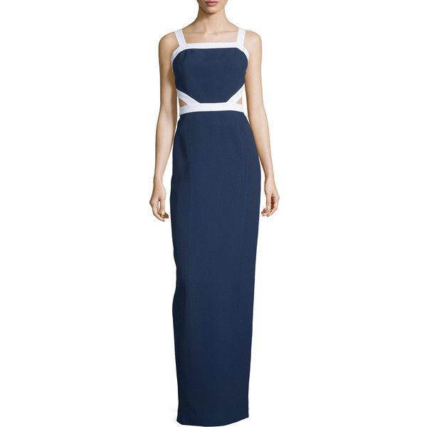 Michael Kors Collection Sleeveless Colorblock Column Gown ($1,797 ...