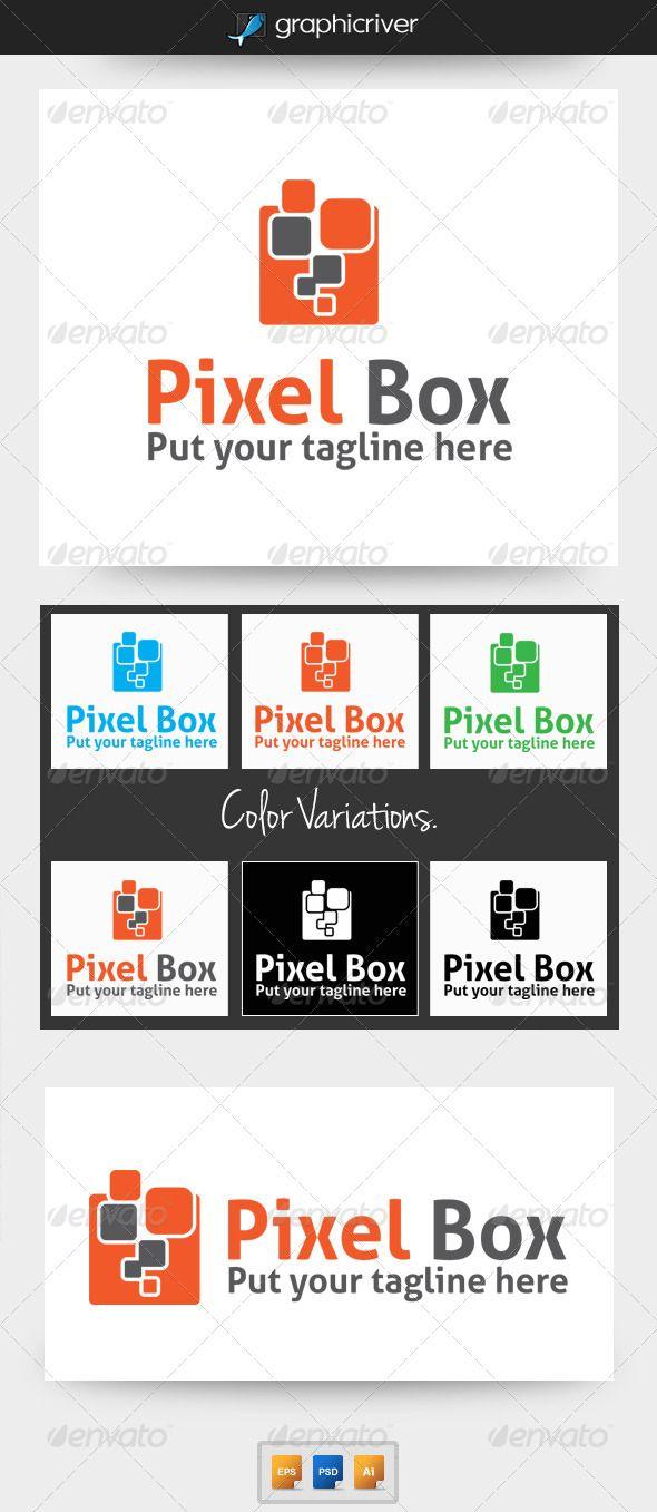 PixelBox Logos Font logo and Logo templates