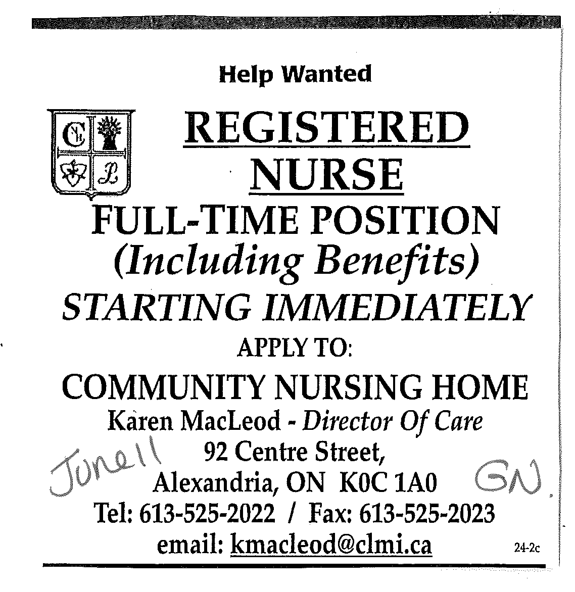 Job Posting For Registered Nurses Demande D Emploi Pour Infirmiere See Our Website For Other Jobs Voir Notre Sit Help Wanted Community Nursing How To Apply