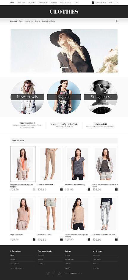 46004 premium opencart templates design designed for fashion