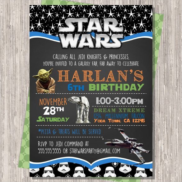 20 Star Wars Birthday Invitation Templates Free Sample Example Format Download