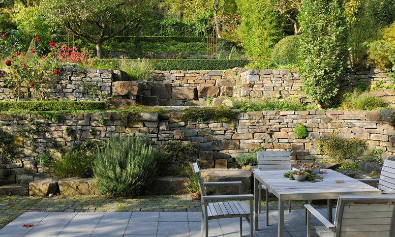 Garten hanglage befestigen google suche garten for Garten gestalten hanglage