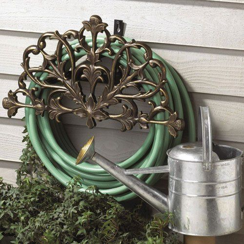 Filigree Garden Hose Holder. SO Much Classier Looking Than The Cheap Plastic  Deal