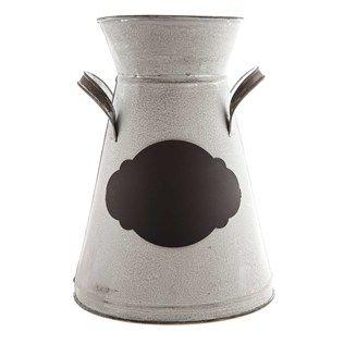 Galvanized Metal Narrow Neck Vase With Chalkboard Shop Hobby Lobby Metal Vase Vase Metal Decor