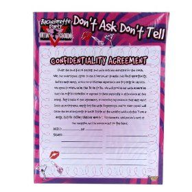 Bachelorette Party Confidentiality Agreement I Can Totally Make