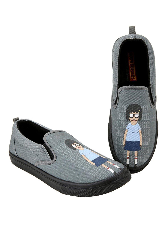 05e43f6d8877d Amazon.com: Bob's Burgers Tina Slip-On Shoes: Clothing   My heart ...