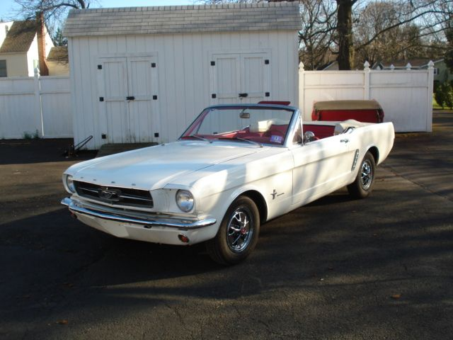 65 Mustang White Exterior Red Leather Interior Convertible