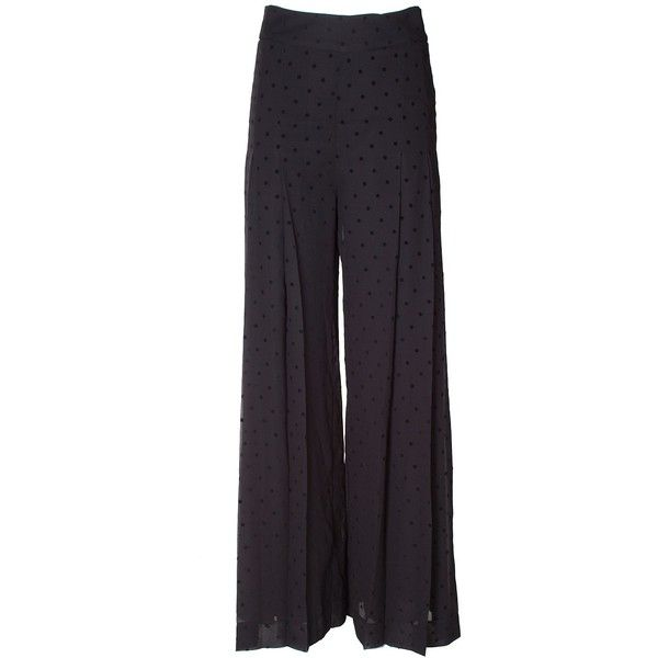 da678cc7 See by Chloe' Pleated Polka-Dot Crepe Wide-Leg Pants ($415) ❤ liked ...