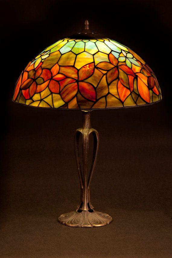 tiffany stained glass lamp. Tiffany Stained Glass Lamp. Woodbine Pattern By WPworkshop Lamp
