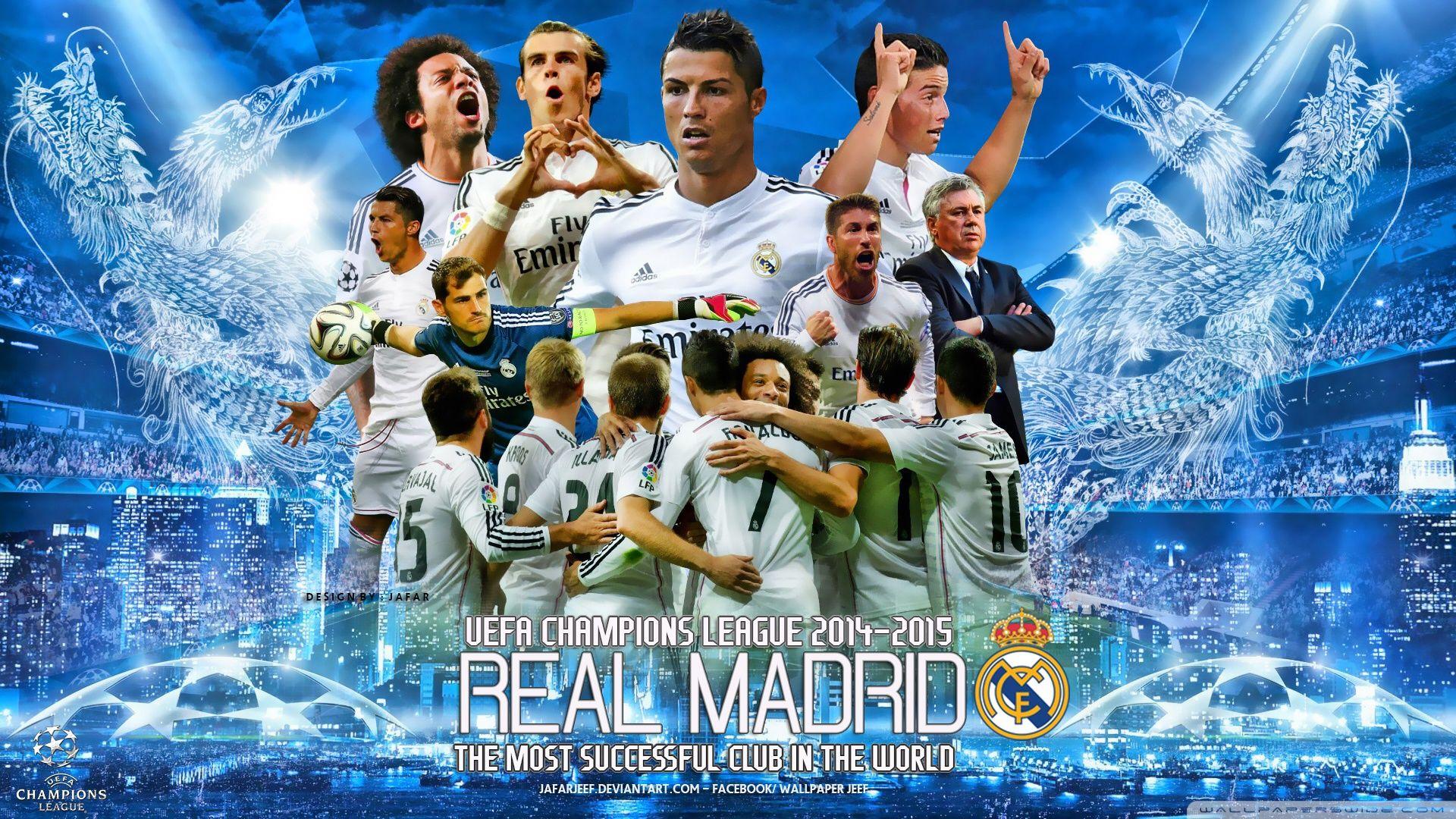 cool Reeal Madrid Champions League Wallpaper