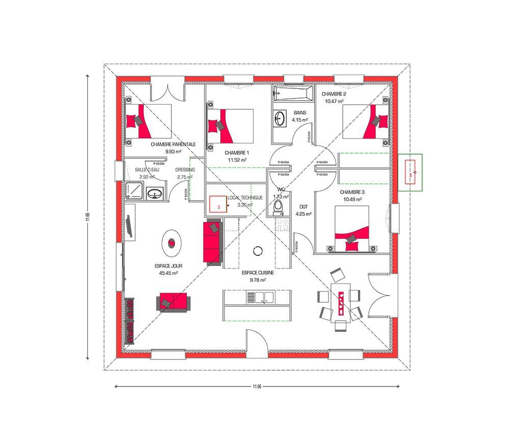 couleurs villa vous propose la villa dona moderne contemporaine cette maison est idale pour - Plan Maison Ideale Feng Shui