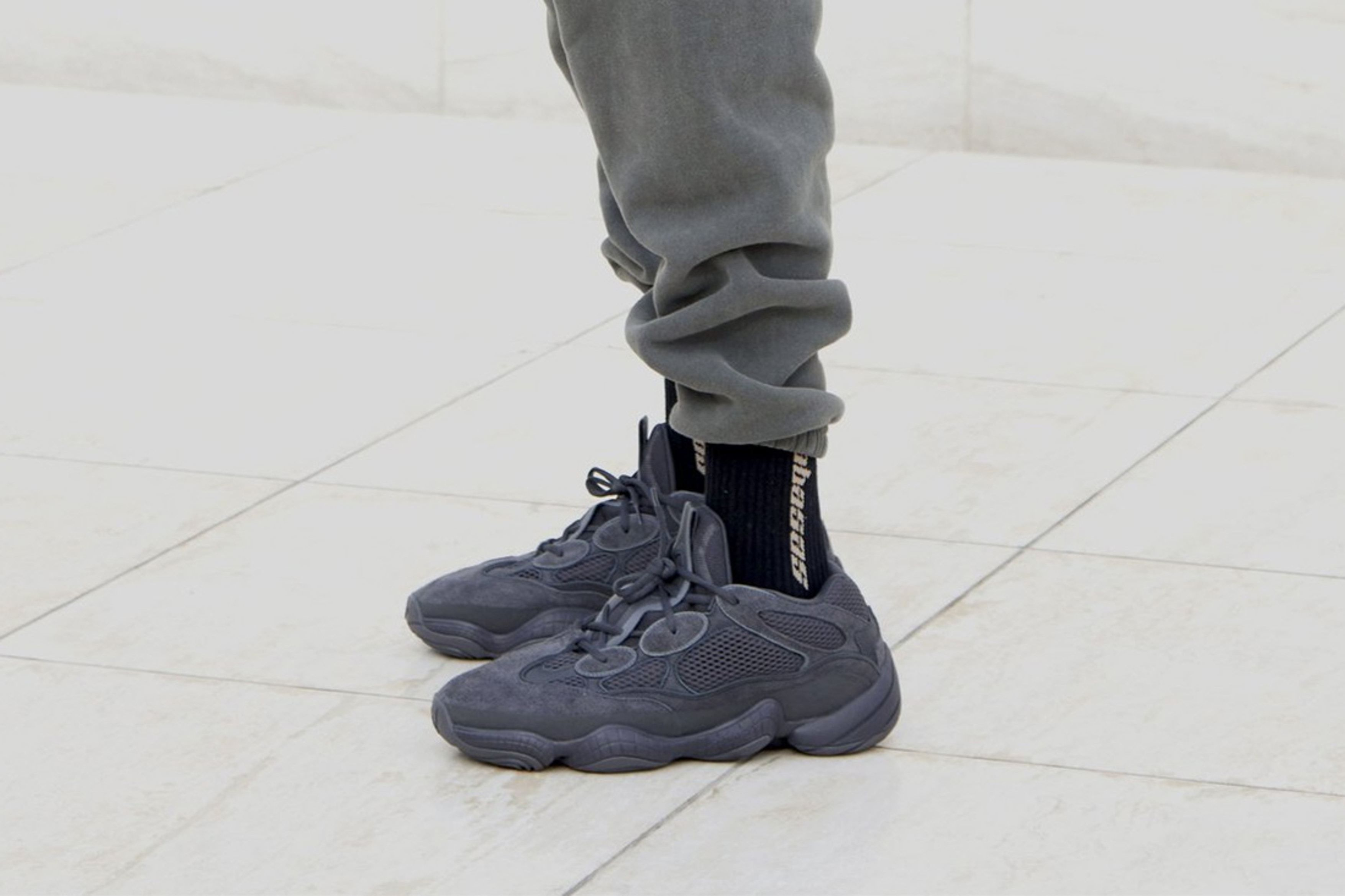 adidas Yeezy Sneakers in Utility Black | Chaussure, Sneakers