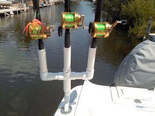 Diy Multiple Rod Holder Boat Buscar Con Google Plywood Boat Plans Fishing Rod Holder Fishing Pole Holder