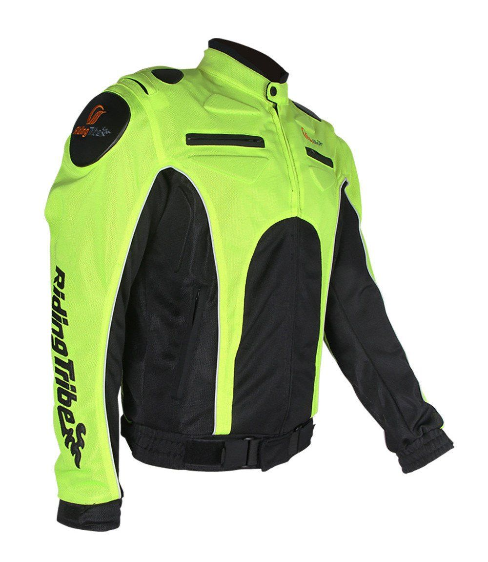 SUMMER Riding Tribe Neon Reflective Motorcycle Jacket