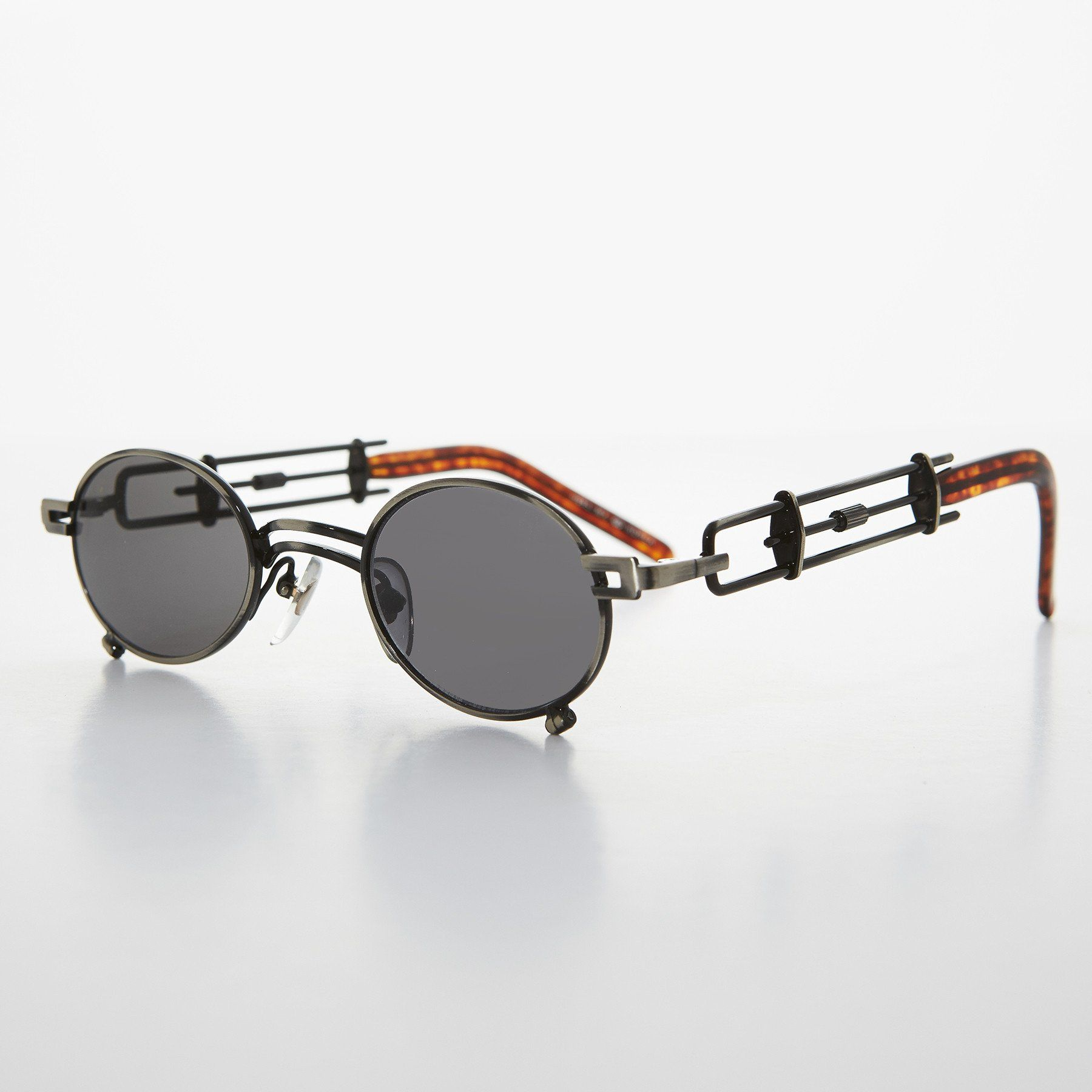 Mens NEW CLASSY VINTAGE RETRO Style SUN GLASSES Silver Frame Wood Wooden Temples