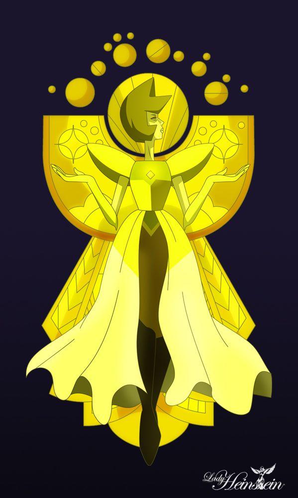 Long live yellow diamond steven universe pinterest for Yellow diamond mural