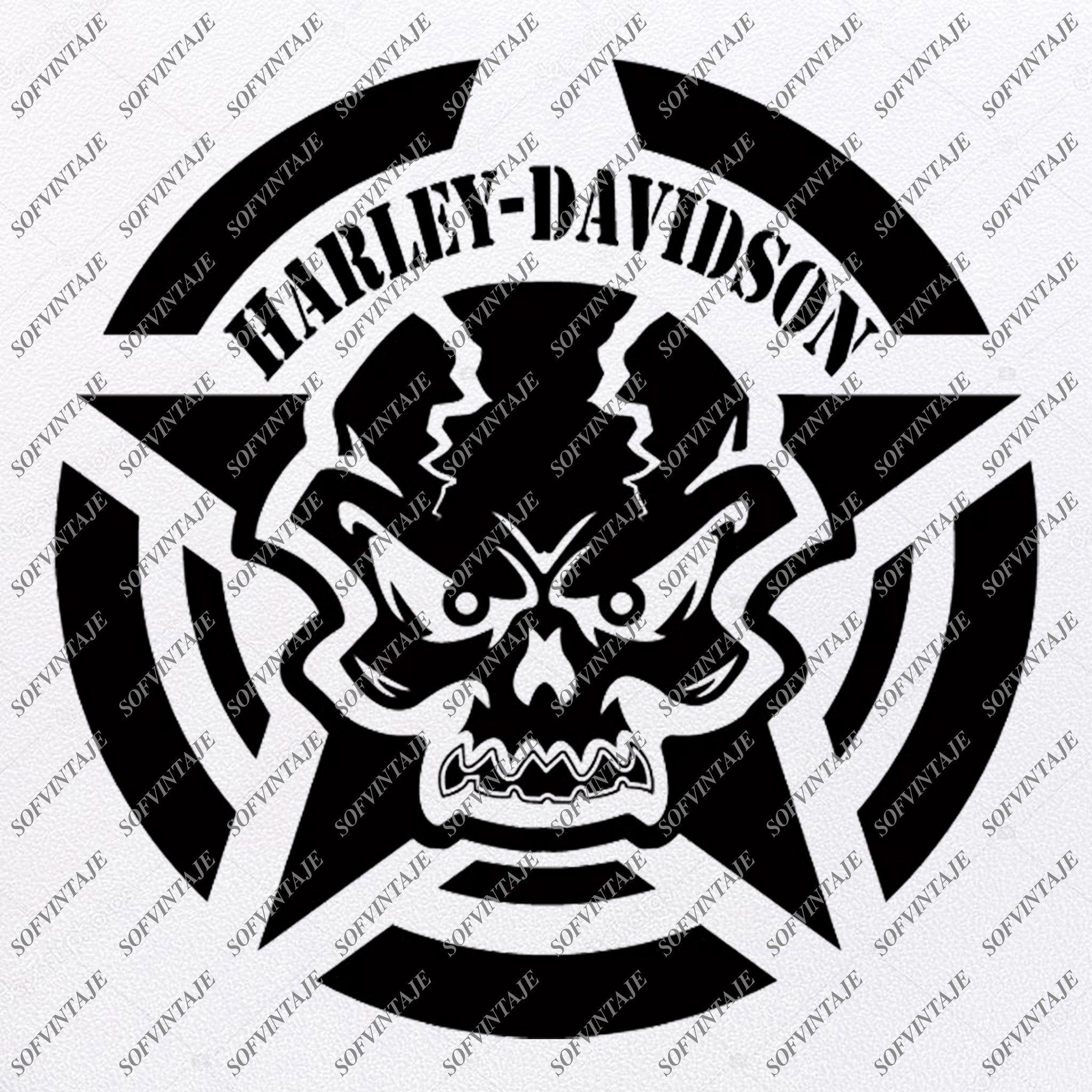 Harley Davidson Svg File Skull Harley Davidson Svg Design Clipart Tat Sofvintaje In 2020 Silhouette Svg Harley Davidson Svg Design