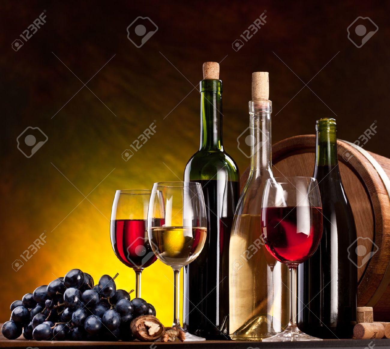Pinturas de botellas de vino y copas buscar con google - Botelleros de vino ...