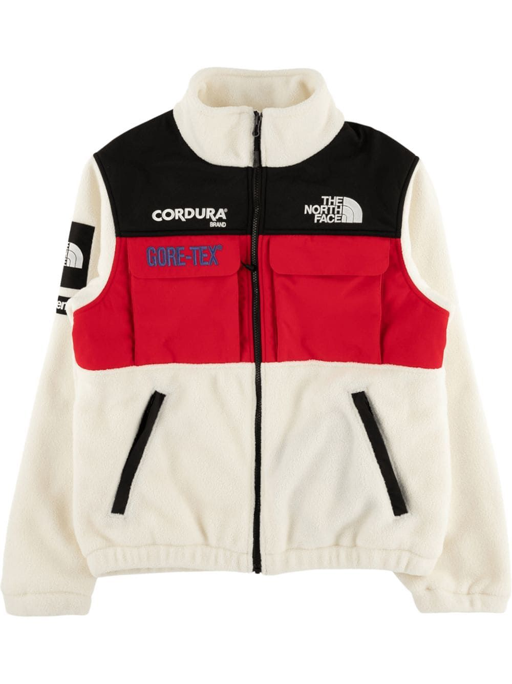 Supreme X The North Face Expedition Fleece Jacket Farfetch In 2020 North Face Fleece Jacket Fleece Jacket The North Face