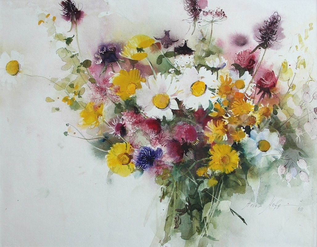 Hofer Badezimmerschrank ~ Heinz hofer hainz hofer pinterest watercolor art flowers and