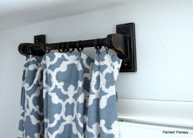 My Fancy Dancy Curtain Rods Wooden Curtain Rods Diy Curtain