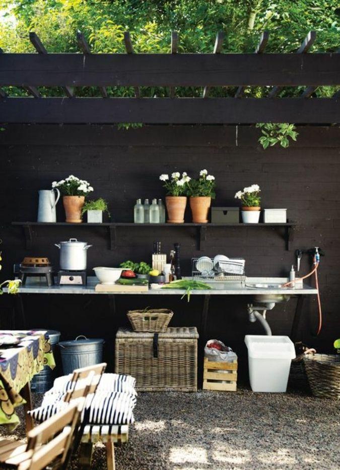▷ 1001+idées du0027aménagement du0027une cuisine du0027été extérieure Yards - Cuisine D Ete Exterieure
